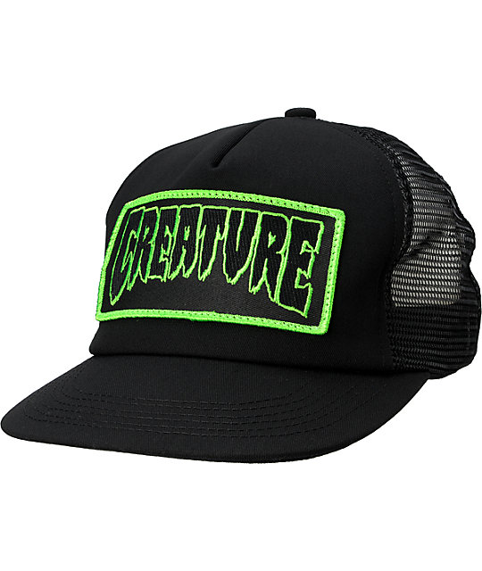 Creature Patch Black Trucker Hat