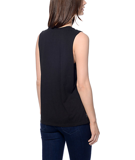 Crook and Castles Thuxury Black Muscle Tank Top