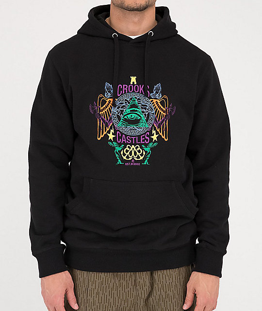 Crooks & Castles Secret Society Black Hoodie