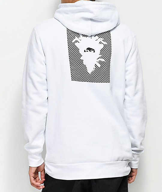 Crooks & Castles Check White Hoodie