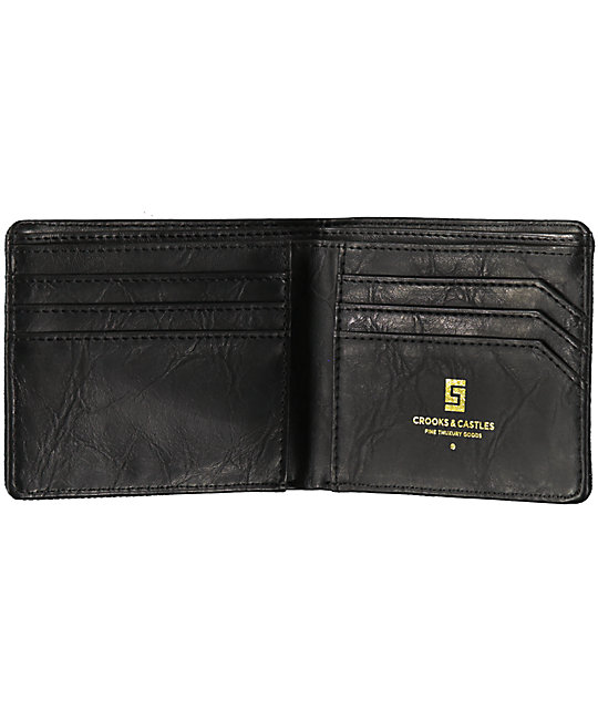 Crooks And Castles Stealth Black Bifold Wallet