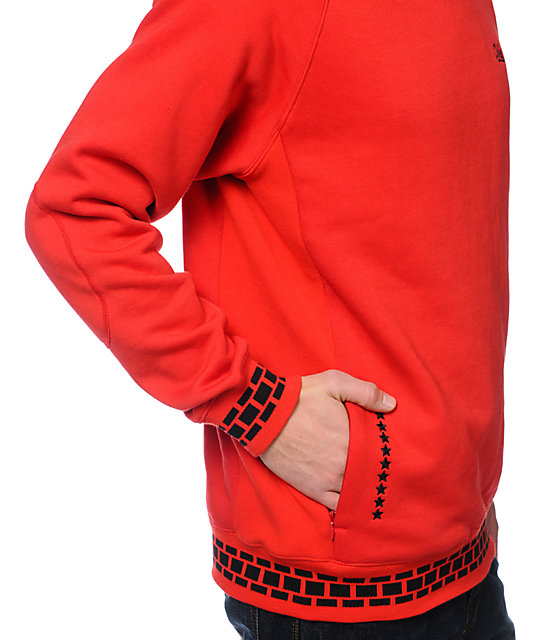 Crooks and Castles 10-Star Red Crew Neck Sweatshirt