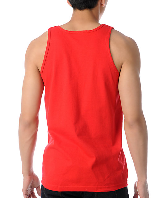 Crooks and Castles Air Gun Spade Red Tank Top
