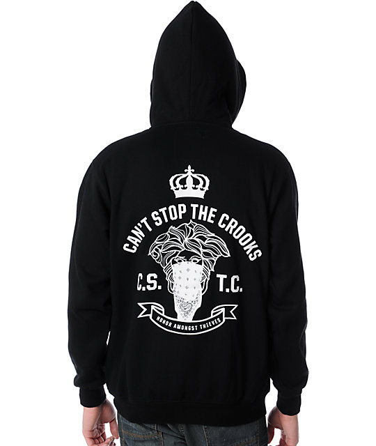 Crooks and Castles Bandito Black Zip Up Hoodie