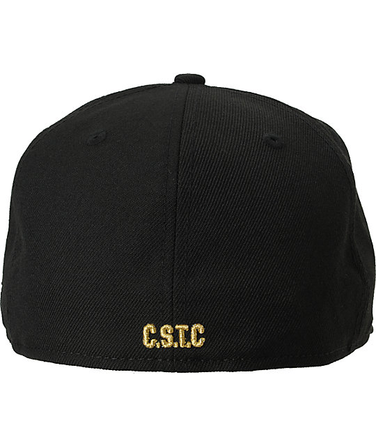 Crooks and Castles Big C Link Black New Era Fitted Hat