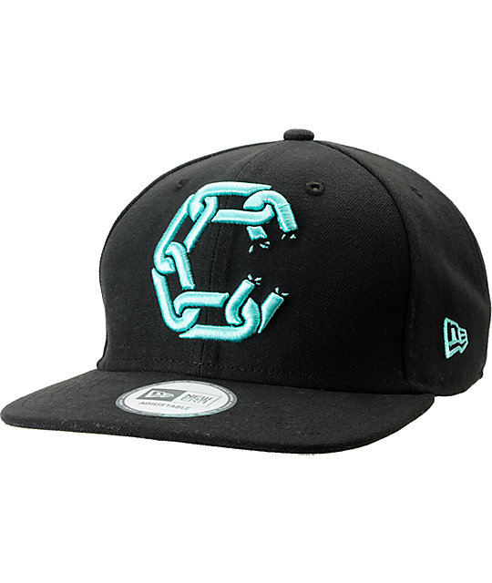 Crooks and Castles Chain New Era Black Snapback Hat