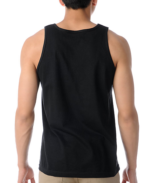 Crooks and Castles Core Logo Black Tank Top