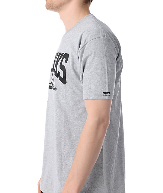 Crooks and Castles Core Logo Grey T-Shirt