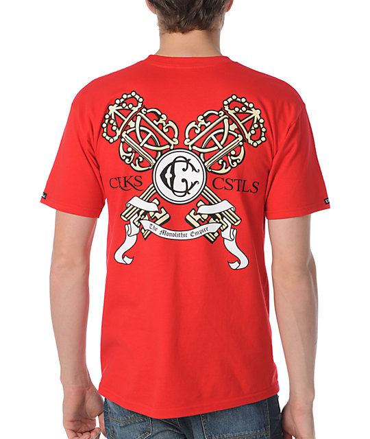 Crooks and Castles Empire Keys Red T-Shirt