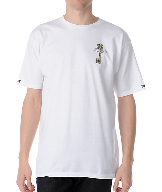 Crooks and Castles Empire Keys White T-Shirt