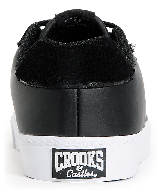 Crooks and Castles Isa Black Leather Shoes