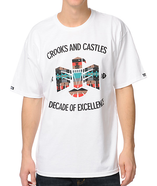 Crooks and Castles Mayan White Black T-Shirt