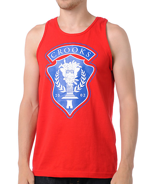 Crooks and Castles Medusa League Red Tank Top