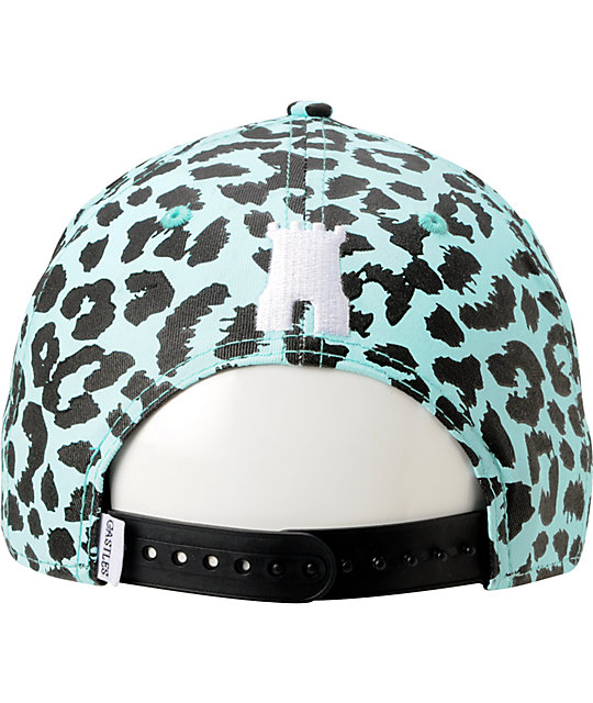 Crooks and Castles Mint & Black Cheetah Snapback Hat