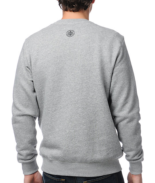 Crooks and Castles Pharaoh Grey Crew Neck Sweatshirt