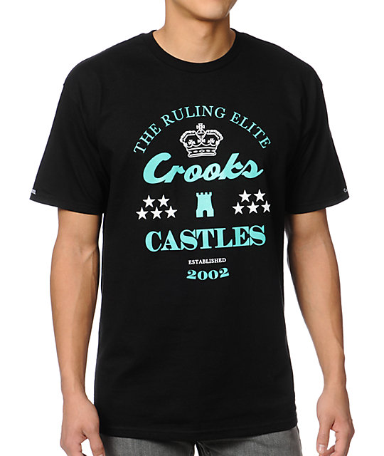 Crooks and Castles The Ruler Black T-Shirt