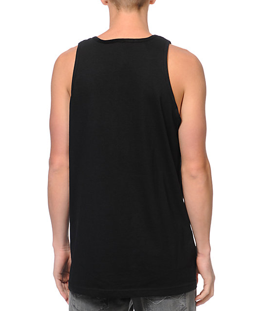 Crooks and Castles The Ruler Black Tank Top