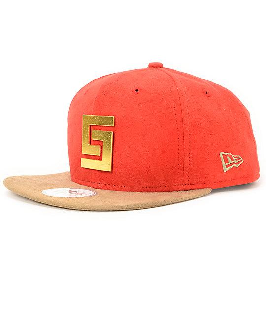 Crooks and Castles Thuxury Greco Red New Era Strapback Hat  4c5b7d625f5