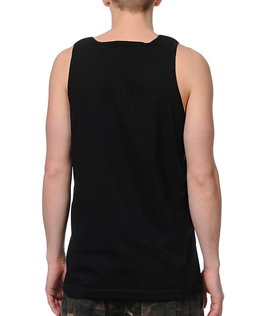 Crooks and Castles Under Surveillance Black Tank Top