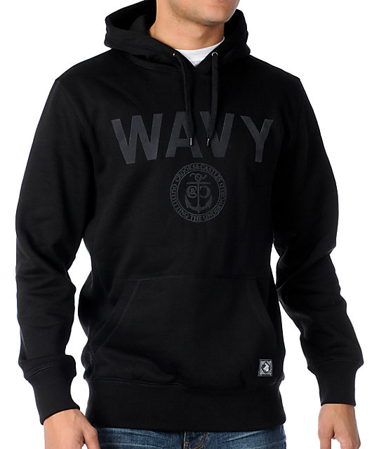 Crooks and Castles Wavy Black Pullover Hoodie
