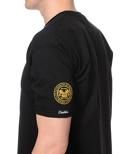 Crooks and Castles x SSUR Stinger Black T-Shirt
