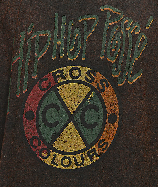 Cross Colours Acid Hip Hop Posse camiseta negra