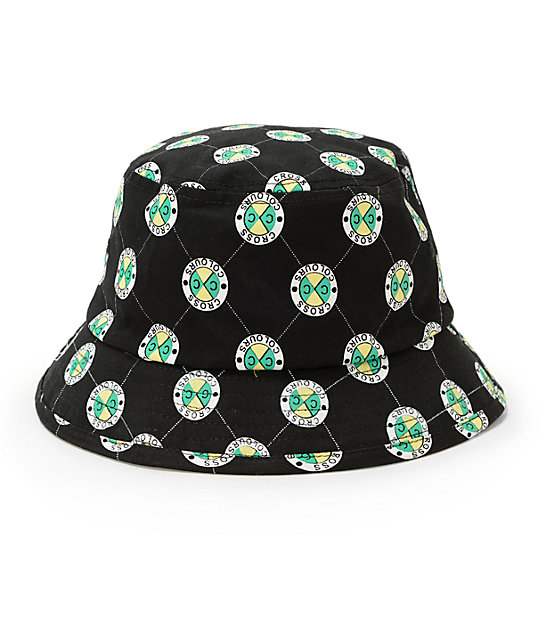 6aa5aab486642 Cross Colours Allover Circle Label Bucket Hat