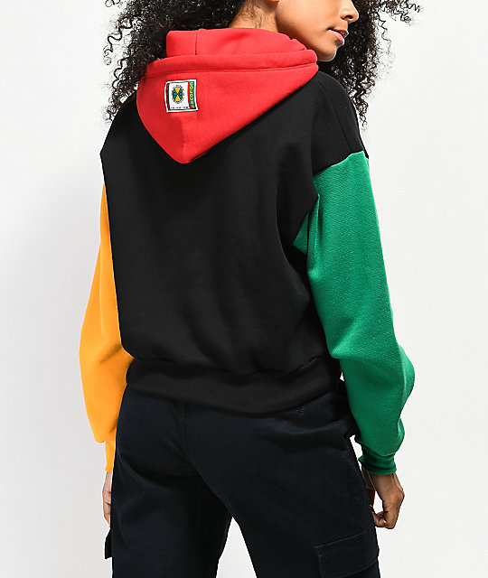 Cross Colours Colorblock Crop Hoodie