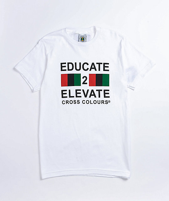 Cross Colours Educate 2 Elevate White T-Shirt