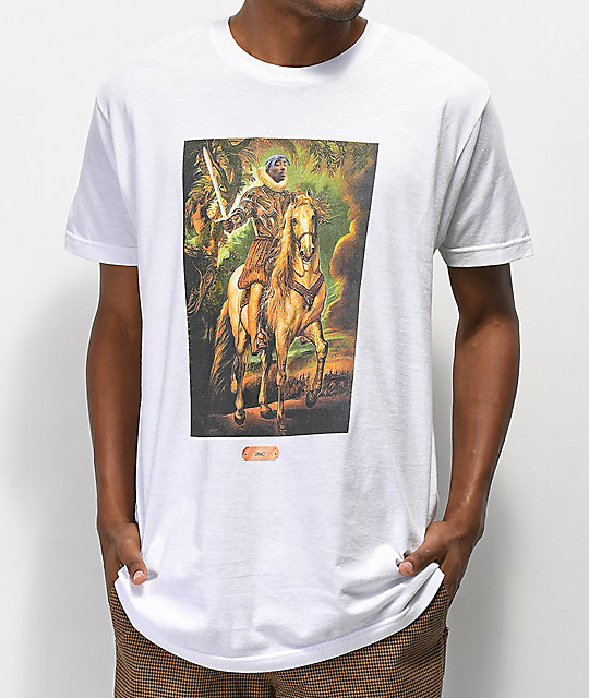 Cross Colours Hip Hop Royalty 2Pac White T-Shirt
