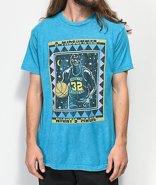 Cross Colours Midnight Magic Turquoise Acid Washed T-Shirt