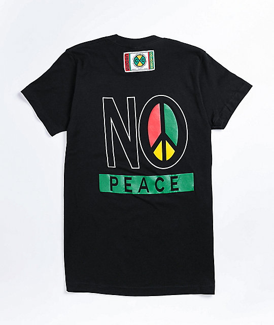 Cross Colours No Justice No Peace Black T-Shirt