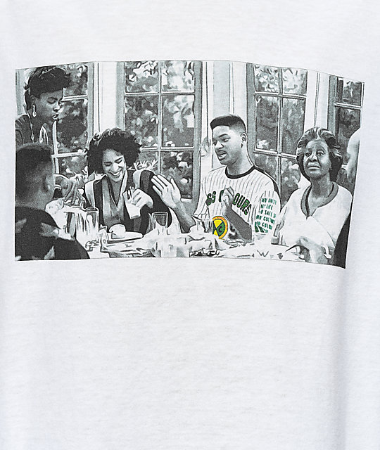 Cross Colours Prince Dinner camiseta blanca