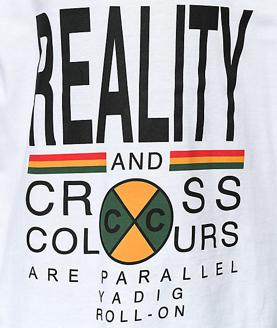 Cross Colours Reality White Tank Top