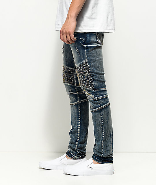 Crysp Denim Basket Woven Blue Wash Jeans
