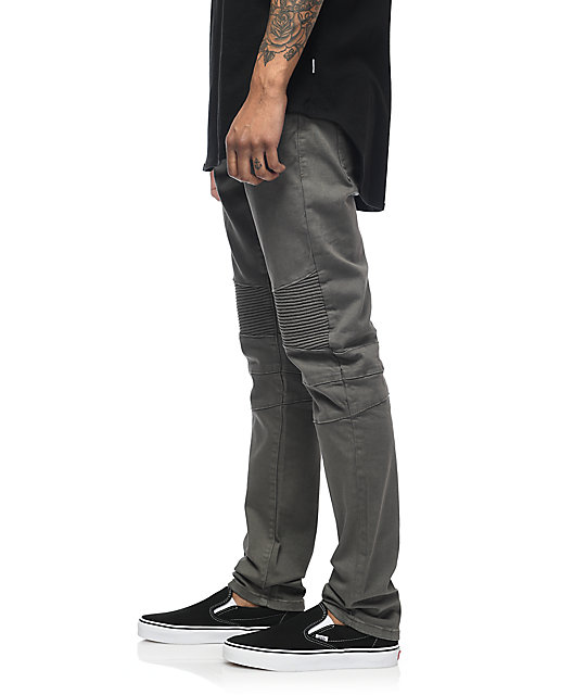 327cbd847a6d3b ... Crysp Denim Jordan Moto Grey Twill Pants ...