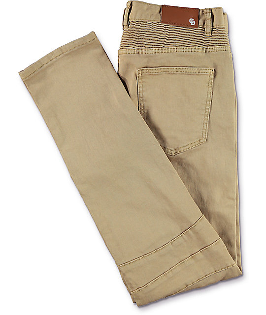 f767fe36cd8797 ... Crysp Denim Jordan Moto Khaki Twill Pants