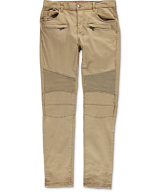 19a756b1af2359 Crysp Denim Jordan Moto Khaki Twill Pants