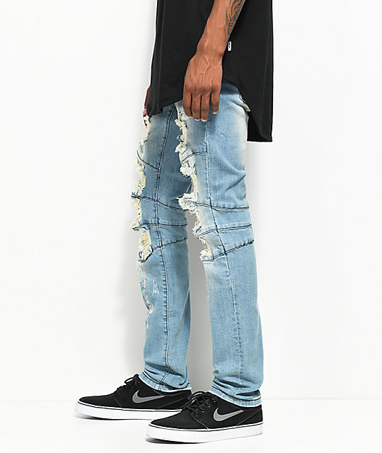 Crysp Denim Montana Blue Distressed Jeans