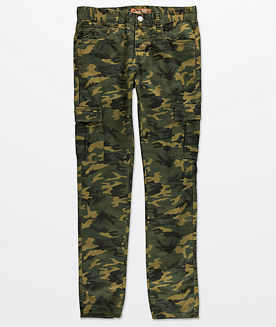 Crysp Denim Mountain Cargo Camo Jeans