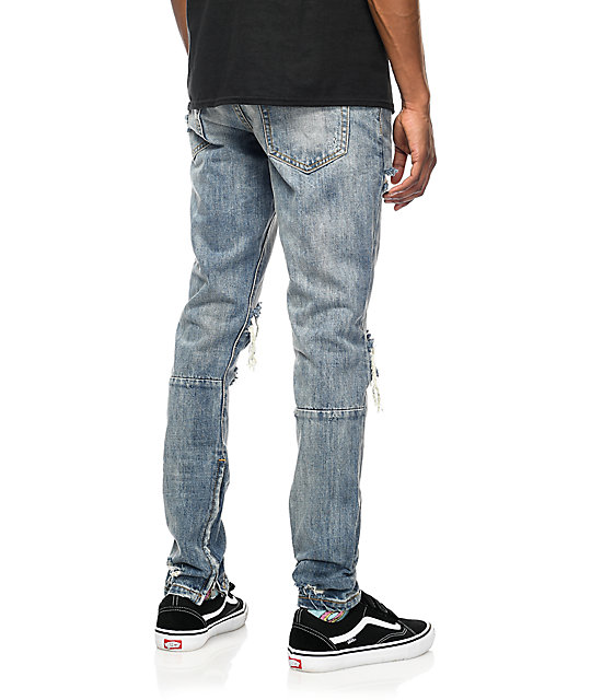 Crysp Denim Pacific Stone Wash Ripped Jeans