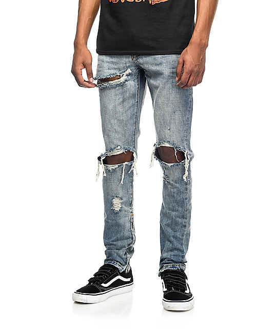 Crysp Denim Pacific jeans rotos lavado piedra