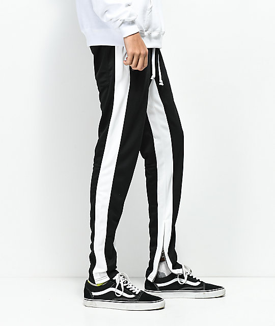 Crysp FB Black & White Track Pants