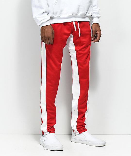 4a54fab266 Crysp FB pantalones de chándal en rojo y blanco ...