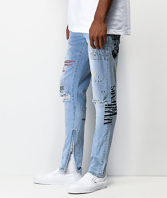 Crysp Pacific Scribbles Denim Jeans