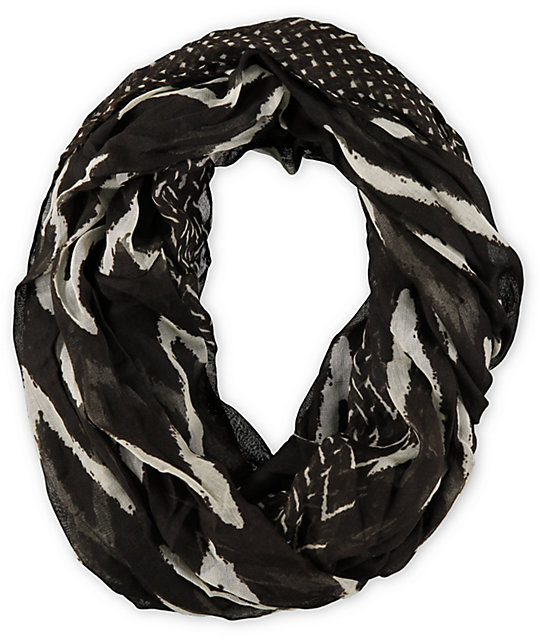 D&Y Chevron Stripe Brown Infinity Scarf