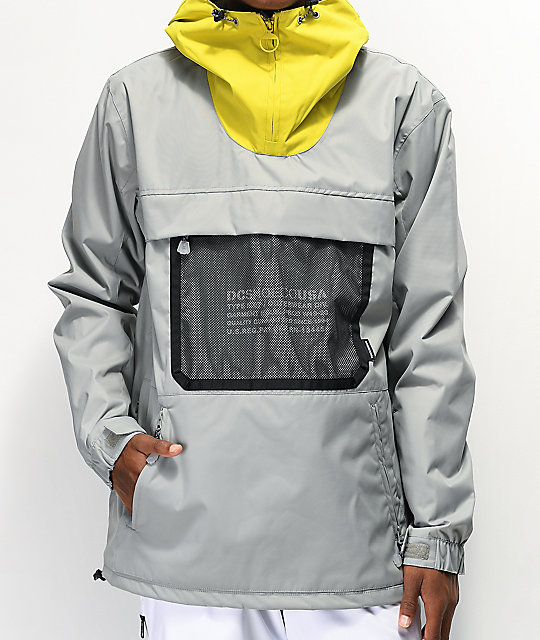 DC ASAP Neutral Grey 10K Anorak Snowboard Jacket