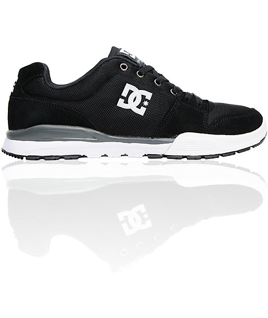 DC Alias Lite Black, White & Battleship Shoes