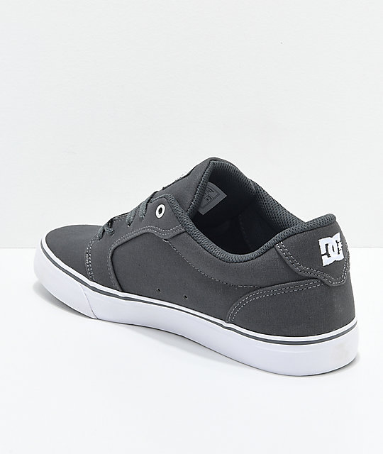 DC Anvil TX Dark Shadow Armor & White Skate Shoes