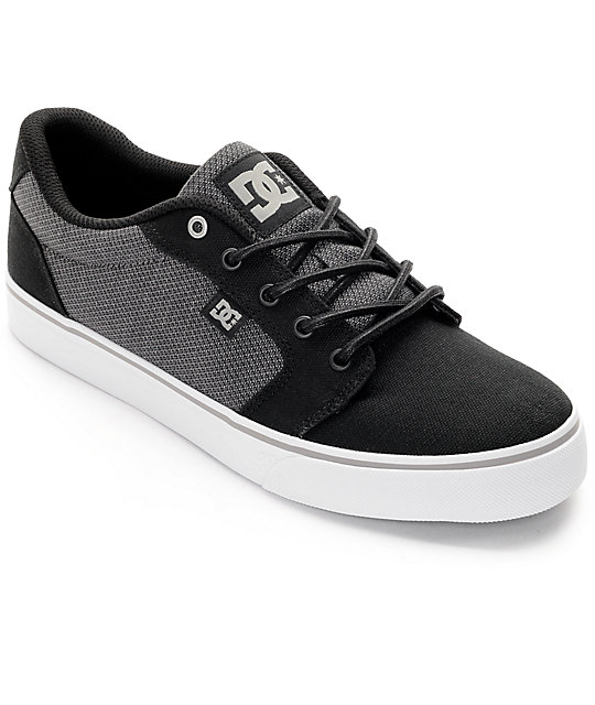 Dc Anvil Tx Se- Grey/Grey/Black sneakers